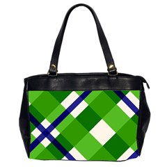 Green Plaid Office Handbags (2 Sides)