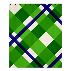 Green Plaid Shower Curtain 60  X 72  (medium)  by AnjaniArt