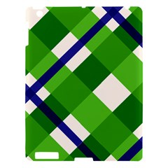 Green Plaid Apple Ipad 3/4 Hardshell Case by AnjaniArt