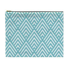Geometric Blue Cosmetic Bag (xl) by AnjaniArt