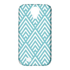 Geometric Blue Samsung Galaxy S4 Classic Hardshell Case (pc+silicone) by AnjaniArt