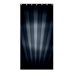 Grey Black Shower Curtain 36  X 72  (stall)  by AnjaniArt