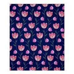 Flower Tulip Floral Pink Blue Shower Curtain 60  X 72  (medium)