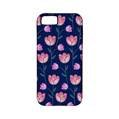 Flower Tulip Floral Pink Blue Apple Iphone 5 Classic Hardshell Case (pc+silicone)