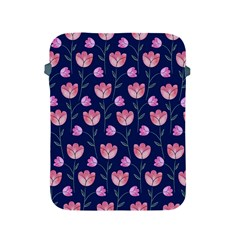 Flower Tulip Floral Pink Blue Apple Ipad 2/3/4 Protective Soft Cases by AnjaniArt