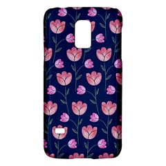 Flower Tulip Floral Pink Blue Galaxy S5 Mini
