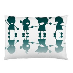 Happy Kids Pillow Case by AnjaniArt