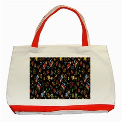 Happy Family Flower Home Sweet Bee Classic Tote Bag (red)