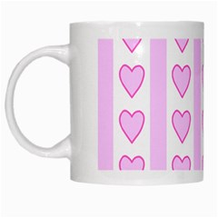 Heart Pink Valentine Day White Mugs by AnjaniArt