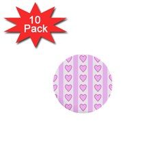 Heart Pink Valentine Day 1  Mini Buttons (10 Pack)  by AnjaniArt