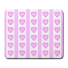 Heart Pink Valentine Day Large Mousepads by AnjaniArt