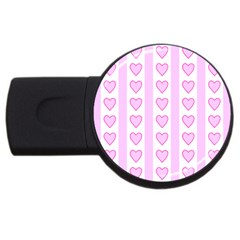 Heart Pink Valentine Day Usb Flash Drive Round (4 Gb)  by AnjaniArt