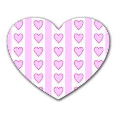 Heart Pink Valentine Day Heart Mousepads by AnjaniArt