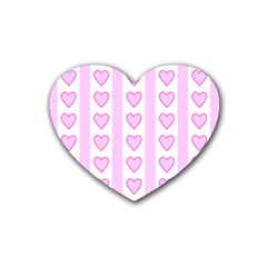 Heart Pink Valentine Day Heart Coaster (4 Pack)  by AnjaniArt