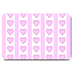 Heart Pink Valentine Day Large Doormat  by AnjaniArt