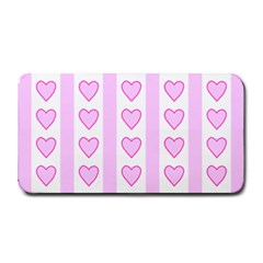 Heart Pink Valentine Day Medium Bar Mats by AnjaniArt