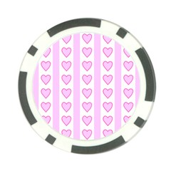 Heart Pink Valentine Day Poker Chip Card Guards (10 Pack)  by AnjaniArt