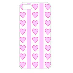 Heart Pink Valentine Day Apple Iphone 5 Seamless Case (white)