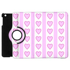 Heart Pink Valentine Day Apple Ipad Mini Flip 360 Case by AnjaniArt
