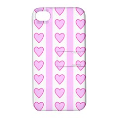 Heart Pink Valentine Day Apple Iphone 4/4s Hardshell Case With Stand by AnjaniArt