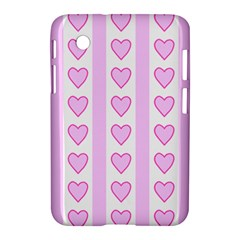 Heart Pink Valentine Day Samsung Galaxy Tab 2 (7 ) P3100 Hardshell Case  by AnjaniArt