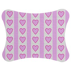 Heart Pink Valentine Day Jigsaw Puzzle Photo Stand (bow)
