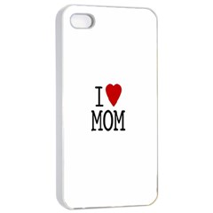 I Love Mom Apple Iphone 4/4s Seamless Case (white)