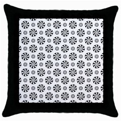 Holidaycandy Overlay Throw Pillow Case (black)