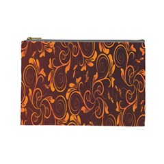 Gold Flower Cosmetic Bag (large)