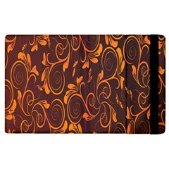 Gold Flower Apple Ipad 2 Flip Case