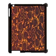 Gold Flower Apple Ipad 3/4 Case (black) by AnjaniArt