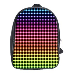 Halftone Pattern Rainbow School Bags(large)
