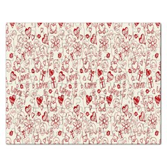 Heart Surface Kiss Flower Bear Love Valentine Day Rectangular Jigsaw Puzzl