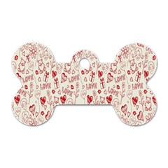 Heart Surface Kiss Flower Bear Love Valentine Day Dog Tag Bone (two Sides)