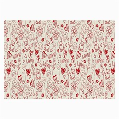 Heart Surface Kiss Flower Bear Love Valentine Day Large Glasses Cloth
