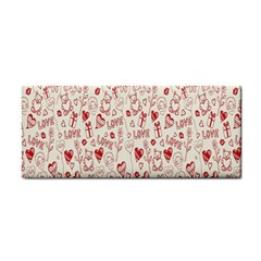 Heart Surface Kiss Flower Bear Love Valentine Day Cosmetic Storage Cases by AnjaniArt