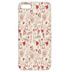 Heart Surface Kiss Flower Bear Love Valentine Day Apple Iphone 5 Hardshell Case With Stand by AnjaniArt