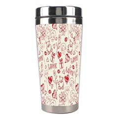 Heart Surface Kiss Flower Bear Love Valentine Day Stainless Steel Travel Tumblers by AnjaniArt