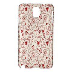 Heart Surface Kiss Flower Bear Love Valentine Day Samsung Galaxy Note 3 N9005 Hardshell Case