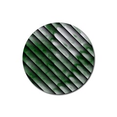 Green Bamboo Rubber Round Coaster (4 Pack)