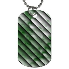 Green Bamboo Dog Tag (two Sides) by AnjaniArt