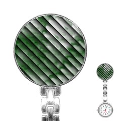 Green Bamboo Stainless Steel Nurses Watch
