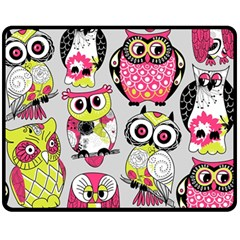 Illustration Seamless Colourful Owl Pattern Fleece Blanket (medium)
