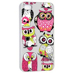 Illustration Seamless Colourful Owl Pattern Apple Iphone 4/4s Seamless Case (white) by AnjaniArt