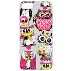 Illustration Seamless Colourful Owl Pattern Apple Iphone 5 Classic Hardshell Case by AnjaniArt