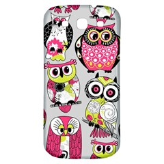 Illustration Seamless Colourful Owl Pattern Samsung Galaxy S3 S Iii Classic Hardshell Back Case by AnjaniArt