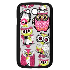 Illustration Seamless Colourful Owl Pattern Samsung Galaxy Grand Duos I9082 Case (black) by AnjaniArt