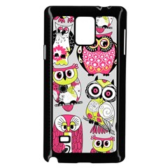 Illustration Seamless Colourful Owl Pattern Samsung Galaxy Note 4 Case (black) by AnjaniArt