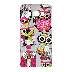 Illustration Seamless Colourful Owl Pattern Samsung Galaxy A5 Hardshell Case  by AnjaniArt