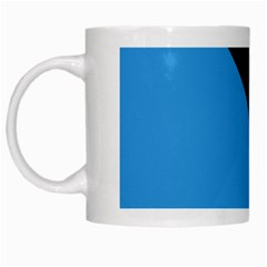 Lines Textur  Stripes Blue White Mugs by AnjaniArt